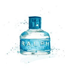 Ralph by Ralph Lauren Perfume watercolour fashion by #SherylColeArt