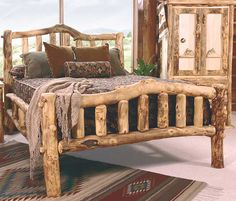Heirloom Snowload II Aspen Log Bed - Available at Lights in the Northern Sky www.lightsinthenorthernsky.com