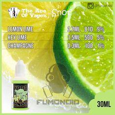 the Ace of Vapez (Snot) - сочетание лимона и лайма подарят незабываемые ощущения при парении