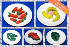 """Еда для кукол из самодельного Плей-До (теста для лепки) - Лепка из пластилина - Статьи блога """"В гостях у Весны"""" - В гостях у Весны"""