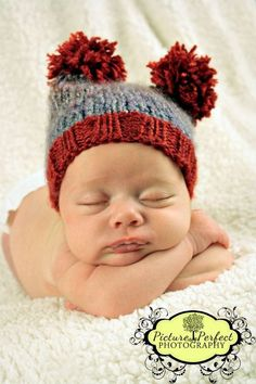 Knitted baby Hat photo prop Newborn by SimplyKnitted2gether, $18.00
