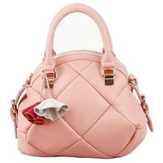 Adorable soft pink purse with quilted look