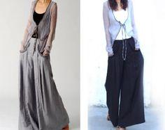 Moon forgot linen skirt pants K1206b por idea2lifestyle en Etsy