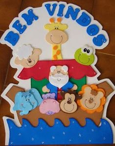 Noah's ark Complete pattern here. Winter Crafts For Toddlers, Toddler Crafts, Preschool Crafts, Noahs Ark Party, Noahs Ark Theme, Foam Crafts, Diy And Crafts, Pencil Toppers, Bible For Kids