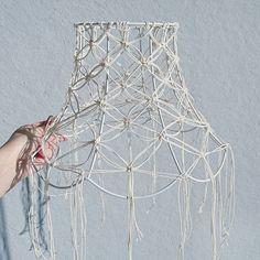 I made a macrame lamp #macrame#lamp#macramelamp#diy#craft#makrame#lampa#lampskärm