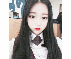 Image in Ulzzang Girls collection by crybaby on We Heart It Ulzzang Couple, Ulzzang Girl, Cute Korean Girl, Asian Girl, Pretty Girls, Cute Girls, Ulzzang Makeup, Cute Faces, My Girl