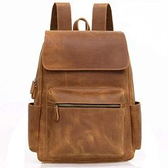 Painstaking Solid Pu Leather Vintage Backpack Men Bag Brown Black High Quality Laptop Back Pack Male Large Casual Bagpack Mochila 2019 Men's Bags Luggage & Bags