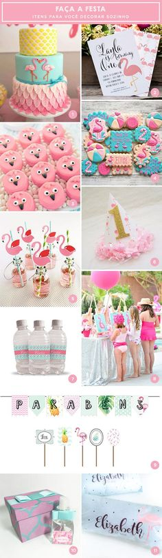 Separamos itens lindos e inspiradores para os pais que estão pensando na festinha das pequenas. Vem ver várias ideias de flamingos