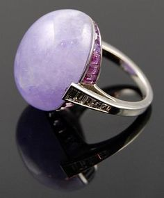 diamond & lavender opal ring with pink diamonds ~ oh my!