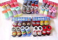 Baby Socks Wee Tots 4 Pair Pack 0-12 Months Assorted Fun Styles Boys And Girls #WeeTots #AnkleSocks