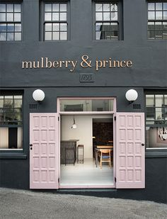 gorgeous blush door by Mulberry & Prince Restaurant in Cape Town   South Africa