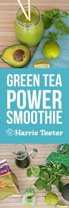 This Mango Matcha Green Tea Smoothie is thick and delicious, plus healthy too!  Great for breakfast or post-workout!