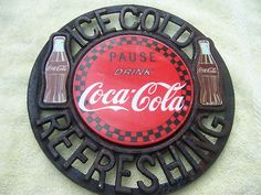 Unique Coca Cola Cast Iron Sign