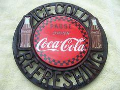 Unique Coca Cola Cast Iron Sign