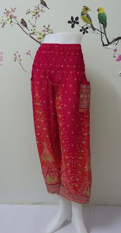 Pink genie jumpsuit pant really awesome Etsy listing at https://www.etsy.com/listing/192099660/pink-women-trouser-harem-pant-genie