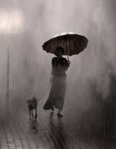 Saul Leiter, Raining On Two, 1957