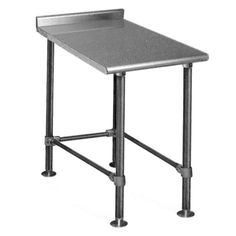 """This Eagle Group UT2412STE 12"""" x 24"""" equipment filler table boasts a durable 14 gauge, type 304 stainless steel construction and is ideal for maximizing storage space in your commercial kitchen! For added convenience the top is sound-deadened to reduce noise, while its patented uni-lok recessed gusset design reduces lateral movement for superior stability during use. (4) stainless steel 1 5/8"""" legs with adjustable stainless steel flanged feet provide support for the whole ..."""