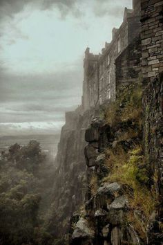 Misty looking Stirling Castle, Scotland -- one of the largest and most important castles in Scotland. Mary, Queen of Scots, was crowned here (1542). Credit and thanks Fraser Hetherington