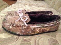 camouflage moccasins