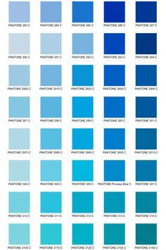 Pantone Azul Blue Cor
