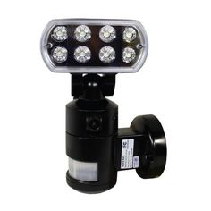 Black Versonel Nightwatcher LED Security Motion Recording Light WiFi