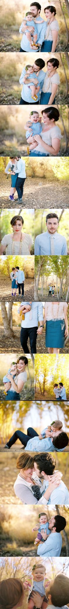 light blue and cream for late summer family portraits / photos shot by Ben Christensen Photography