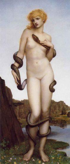 Evelyn De Morgan: Cadmo y Harmonía. 1877.