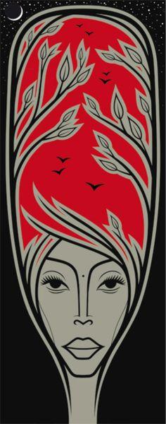 Erykah Badu by Jules Mann   Artfinder