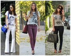 Dicas de looks casuais ♡ T-shirts