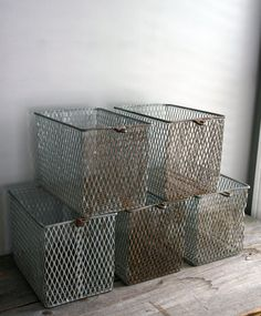 wire baskets.
