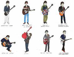 Gene Gallagher, Lennon Gallagher, Oasis Band, Famous Guitars, Himym, Music Film, Jojo Bizarre, Jojo's Bizarre Adventure, Playing Guitar