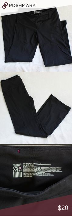 VICTORIA'S SECRET VSX SPORT Pants - Small Long these sports pants have been love to, but have a lot more use in them.  They are made with 77% nylon 23% Elastane.  Machine wash cold - Tumble dry normal cycle. Victoria's Secret Pants Track Pants & Joggers