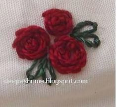 Roses with rose stitch,chainstitch and blanket stitch tutorial