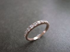 14K Rose Gold & Diamond band. Liking the mismatched look