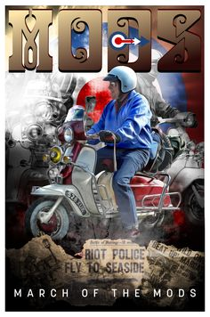 Retro Scooter, Riot Police, Vespa Lambretta, Alternative Music, Pop Rocks, Way Of Life, Scooters, Captain America, Buttons