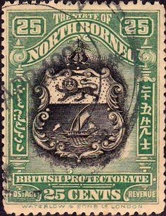 North Borneo 1909 Black Centre Design Fine Used SG 174 Scott 145c Other Malayan Stamps HERE