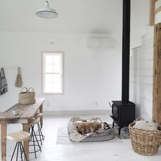 + Sometimes it's better to find a warm place . Minimalist Scandinavian, Scandinavian Home, Living Room Inspiration, Interior Inspiration, Country Living Magazine, White Rooms, Rustic Interiors, Home Living Room, Decoration