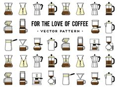 Coffee brewing methods by Olga Zelenska