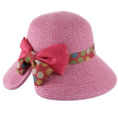 New Design Lace Bow For Women Solid Color Straw Hat