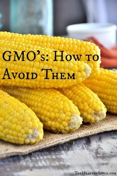 GMO's: How to Avoid Them | TheHealthyApple.com.| There is also great sources for organic skin and makeup prod.