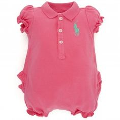.Ralph Lauren  Pink Bubble Onesie..... this is what Molly's and Nialler's baby will wear. :) polo's!!