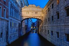 Bridge of Sighs, Venice, Italy - Early morning hour before the...