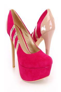 Fuchsia Striped Platform Pump Heels Faux Suede#shoes #shoegame #shoegasm #heels #pumps #classicpumps #highplatforms #kittenheels #singlesole #singlesoleheels #sandalheels #sandals #gladiatorheels #gladiatorsandals #flats #sneakers #sneakerwedges #boots #thighhigh #thighhighboots #booties #combatboots #wedges #summerwedges #cutewedges #wedge #strappyheels #opentoe #closedtoe #peeptoe