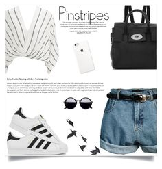 """""""Perfect Pinstripes"""" by fashion-bea-16 ❤ liked on Polyvore featuring Free People, Retrò, Mulberry, adidas, Jayson Home and pinstripes"""
