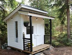 outdoor playhouse Playhouse Plan Into Your Existing Backyard Space - Home to Z Toddler Playhouse, Modern Playhouse, Kids Indoor Playhouse, Kids Outdoor Play, Backyard Playhouse, Build A Playhouse, Backyard Sheds, Backyard Playground, Kids Playhouse Plans