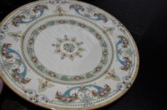 Royal Worcester dinner plate, Turquoise Vases W/ Fruit. 3 sold and only 3 left!!.