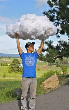 Make a cloud. These would look outstanding in a kids room