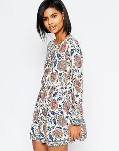 Image 1 ofVero Moda Folk Floral Smock Dress
