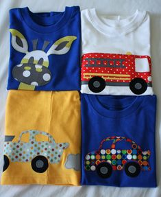 Cool Appliqué pillowcases and shirts for boys