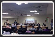 Dignitaries on the dais from left to right Dr. Anant Sardeshmukh, Director General, MCCI&A, Pune, Shri T. S. Bhasin, Chairman, EEPC INDIA, Shri Ravi Capoor, IAS, Joint Secretary, Ministry of Commerce, Government of India, Shri Ajay Sahai,  DG & CEO, FIEO, Shri Jaikant Singh, Addl. DGFT, New Delhi & Shri. R C Kalra, Jt. DGFT, Pune.